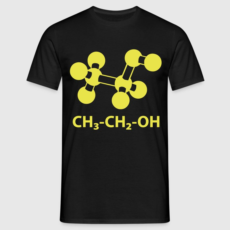 alcohol molecule with formula CH3CH2OH - Camiseta hombre