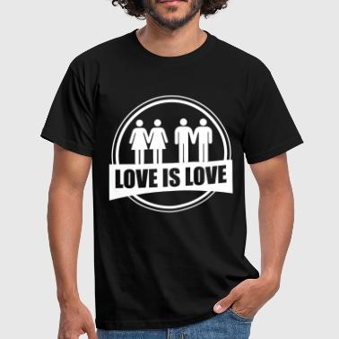 LOVE IS LOVE GAY LESBIAN - Camiseta hombre