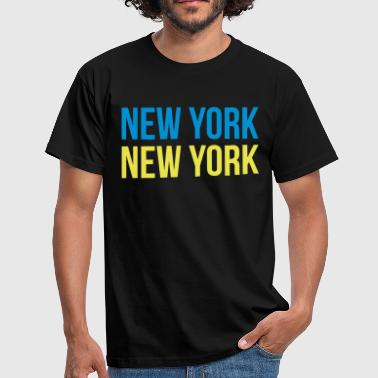 new york new york - T-shirt herr
