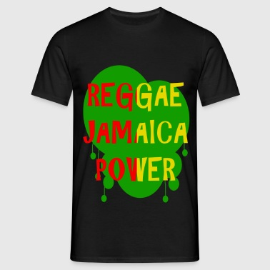 reggae jamaica power - T-shirt Homme