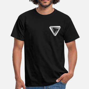 Optical Illusion Grey Triangle - Männer T-Shirt