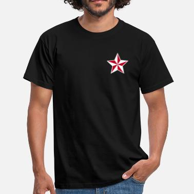 Rosa Nautische Sterne Outlaw Oldschool Tattoo Nautical Stars - Camiseta hombre