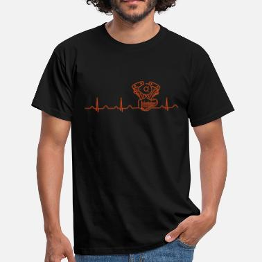 Crocker  V2 Shovelhead Heartbeat orange  - Men's T-Shirt