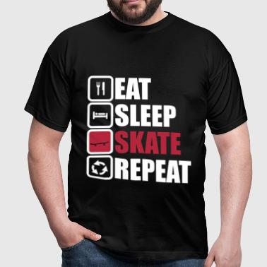 eat sleep skate repeat - Camiseta hombre