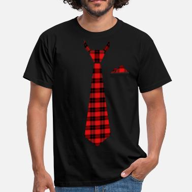 Tie cloth in checkered red lumberjack - Men's T-Shirt