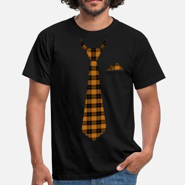 Tie Blanket in Checked Yellow Lumberjack - Men's T-Shirt