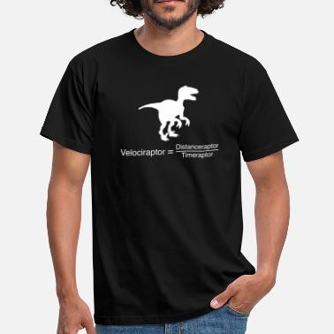 Dinosaur velociraptor funny science - Men's T-Shirt