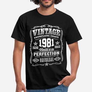 Cadeau Ans 38 shirt Anniversaire Vintage 1981 Homme T 1981 RxAnqE6Tw