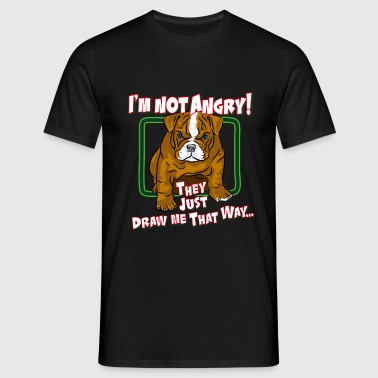 angry_bulldog_puppy - Men's T-Shirt