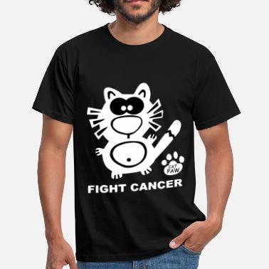 Xxxl Fight Cancer Krebs Katze - Mannen T-shirt