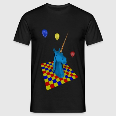 camiseta unisex American Apparel unicornio party - Camiseta hombre