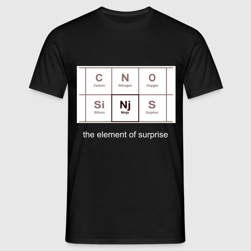 Ninja - Periodic Table - Men's T-Shirt