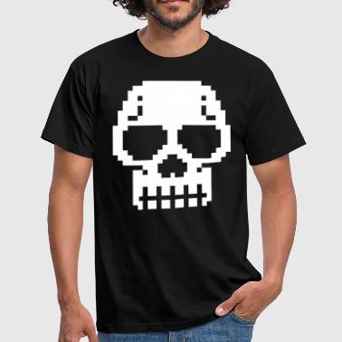 pixel skull for black shirts - Männer T-Shirt