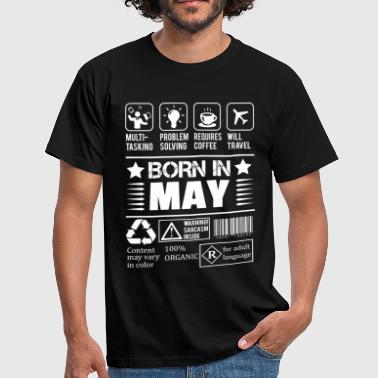 Born In May - Men's T-Shirt