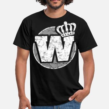 Stylish Letters Stylish letter W with crown - Men's T-Shirt
