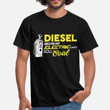 Electric Car Electric car diesel car gasoline gift - Men's T-Shirt
