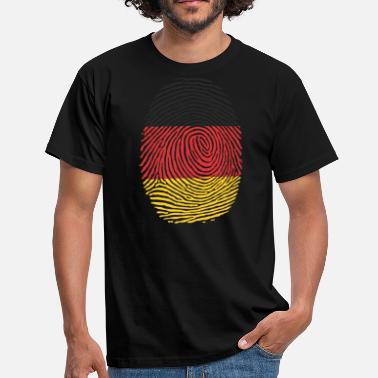 Finger Fingerprint Germany fingerprint finger German homeland - Men's T-Shirt