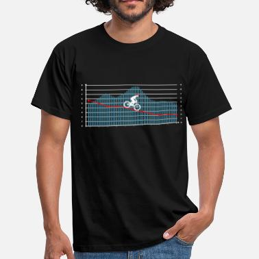 Downhill Rider Downhill rider in the mountains - Men's T-Shirt