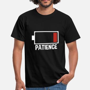 Patience Patience Level Meter is leeg - Mannen T-shirt