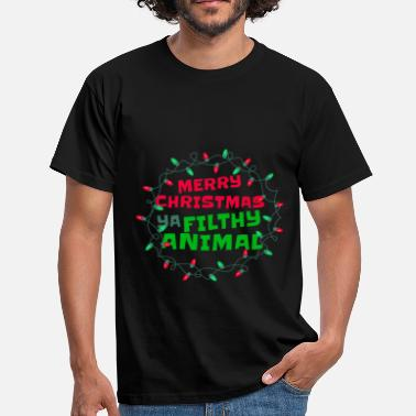 Gevoelige Merry Christmas Ya Filthy Animal Funny Humor - Mannen T-shirt