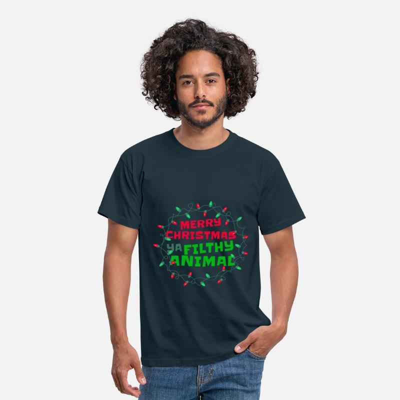 Vêtements, accessoires Joyeux Noël Ya Filthy Animal T-Shirt Femme Santa Père Cadeau De Noël Hauts, chemises, T-shirts