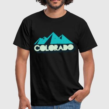 Rockies Retro Vintage Svart Colorado Distressed T-Shirt - T-shirt herr
