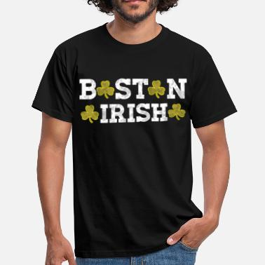 Boston Tea Party Boston Irish Shamrocks Distressed Style Vauvan kuolema - Miesten t-paita