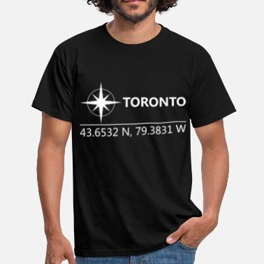 Geographic Toronto Canada Geographic coordinates - Men's T-Shirt