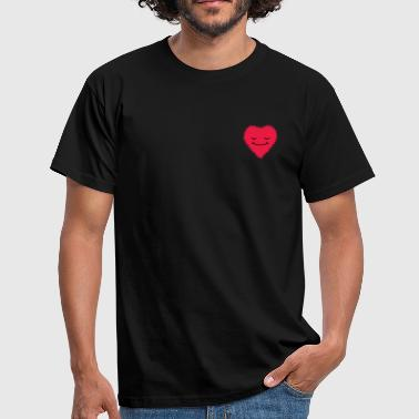 Hackney Fuzzy Heart - Men's T-Shirt