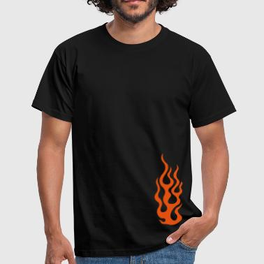 Burning flames 3 - T-shirt herr