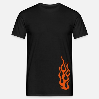 Burning flames 3 - Men's T-Shirt