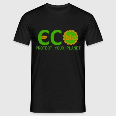 eco bio protect your planet - Camiseta hombre