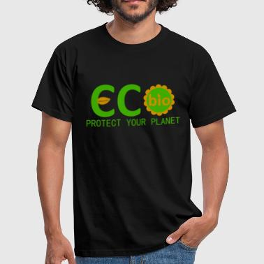 eco bio protect your planet - Men's T-Shirt