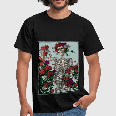 Skeleton and roses - Männer T-Shirt