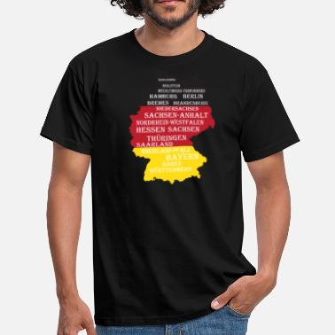State Border Federal States Germany flag borders - Men's T-Shirt