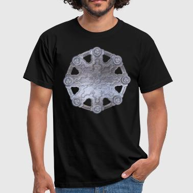 Dharma Wheel - Dharmachakra Metalic embossed - Men's T-Shirt