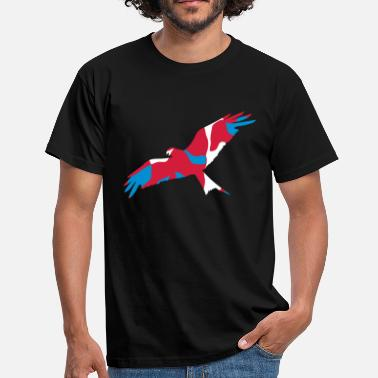 Red Kite UK WALES RED KITE - CAMO / CAMOUFLAGE - Men's T-Shirt