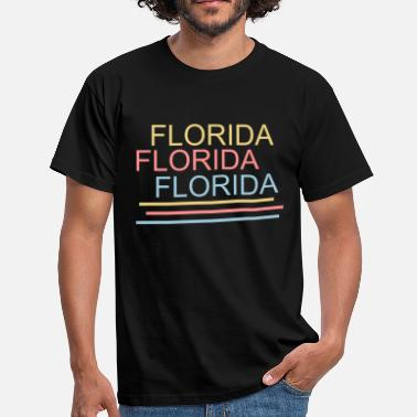 Washington Florida Washington USA Amerika Schrift bunt  - Männer T-Shirt