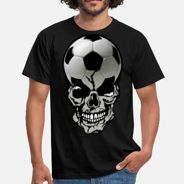 Crane Sports head of death soccer ball skull crane sport fan - Men's T-Shirt
