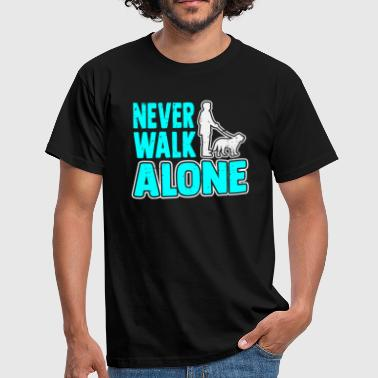 Cat Rescue Never Walk Alone Dog Lover Gift - Men's T-Shirt