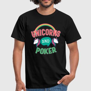 Poker Unicorn And Poker Gift - Men's T-Shirt