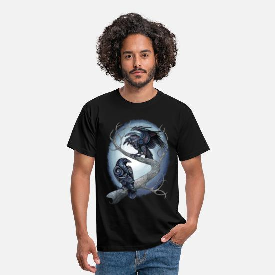 Mythical Collection T-Shirts - Huginn und Muninn SW - Men's T-Shirt black
