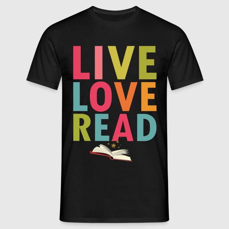 Live Love Read - Men's T-Shirt