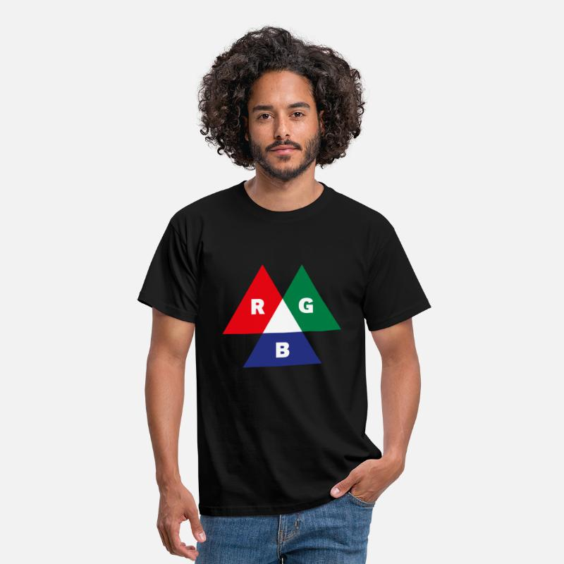 Colour T-Shirts - RGB Mode (Red - Green - Blue) PNG - Men's T-Shirt black