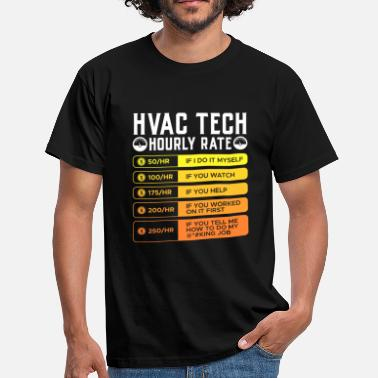 Air-conditioned Air conditioning technician hourly rate refrigeration - Men's T-Shirt