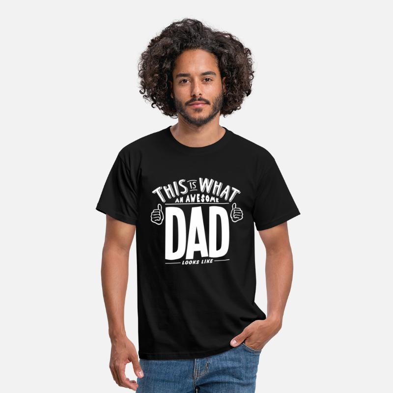 Familie T-Shirts - this is what an awesome dad looks like - Mannen T-shirt zwart