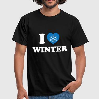 I Love winter (white) - Men's T-Shirt