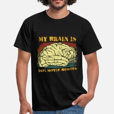 80s Quotes My brain is 80% movie quotes - Men's T-Shirt