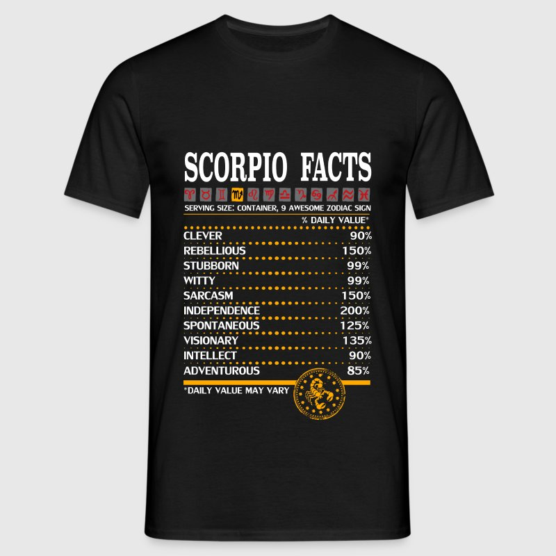 Scorpio Facts Zodiac - Men's T-Shirt