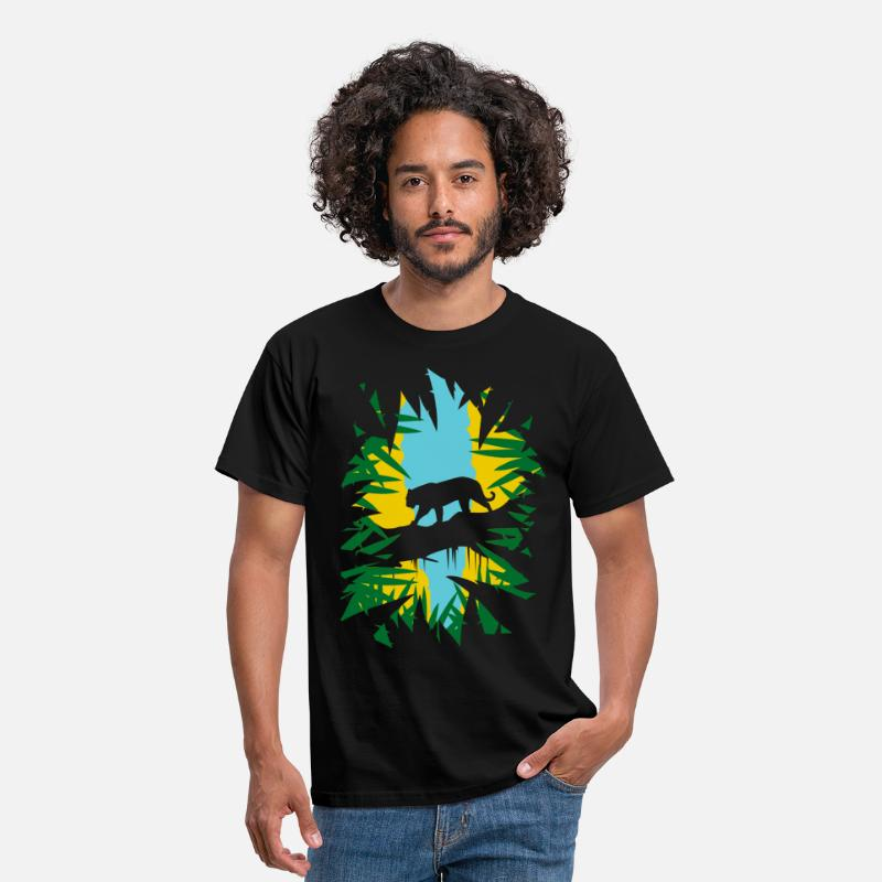 Tiger T-shirts - Jungle - T-shirt herr svart